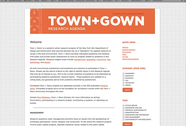Webmaster for Town + Gown - Wordpress featuring Faceted Search Feature