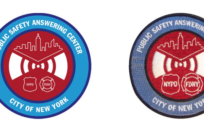 Part of a full branding program for NYPD & FDNY call center including emblem for the division and patch for uniforms