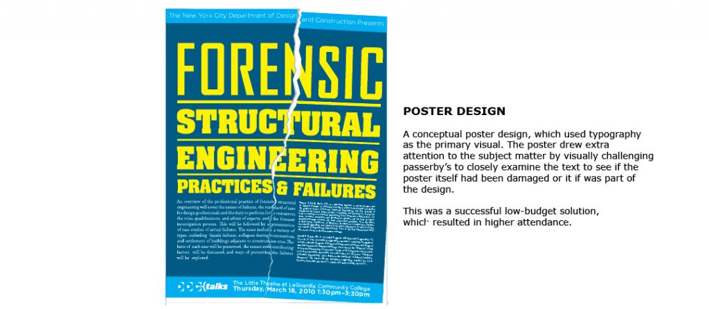 Poster Design for NYC Department of Design & Construction