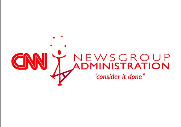 Logo design and tagline for a CNN division