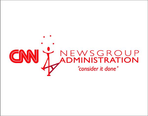 Logo design and tagline for a CNN division
