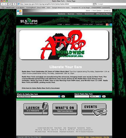 Web design for 91.5FM Radio Station