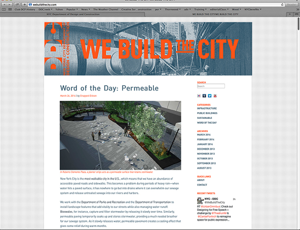 Webmaster for We Build the City - Wordpress Site